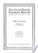 The Grand Rapids Furniture Record