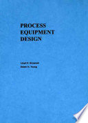 Process Equipment Design