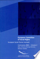 European Social Charter (revised): Italy, Lithuania, Norway, Romania, Slovenia, Sweden