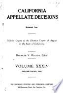 California Appellate Decisions