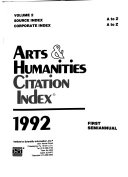 Arts   Humanities Citation Index Book PDF