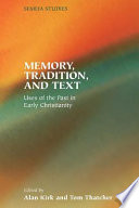 Memory Tradition And Text