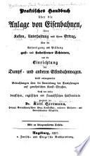 Praktisches Handbuch über die Anlage von Eisenbahnen