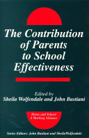 The Contribution of Parents to School Effectiveness