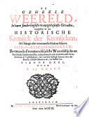 De geheele weereld, in haere sonderlinghste en uytgeleesenste gevallen, voorgesteld tot een historische kronijck der kronijcken;