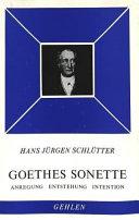 Goethes Sonette