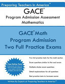Gace Program Admission Assessment Mathematics
