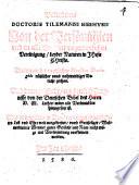 Bekendtnis Doctoris Tilemanni Heshusii Von der Persönlichen und in alle Ewigkeit unzertrenlichen Vereinigung beyder Naturen in JHesu CHristo