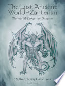 The Lost Ancient World Of Zanterian D20 Role Playing Game Book