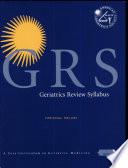 Geriatrics Review Syllabus