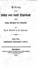 Book Bidrag til en Udsigt over dansk Digtekunst under Kong Christian den Syvende