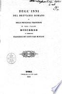 Degl  inni del breviario romano e delle principali traduzioni in versi italiani