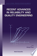 Recent Advances In Reliability And Quality Engineering book