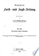 Allgemeine Forst- und Jagdzeitung