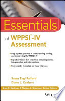 Essentials of WPPSI IV Assessment