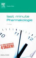 Last Minute Pharmakologie book