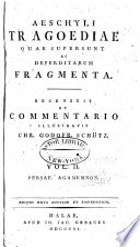 Persae  Agamemnon