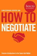 How To Negotiate Book