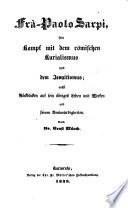 Allgemeine Geschichte der katholischen Kirche von dem Ende des Tridentinischen Konziliums bis auf unsere Tage