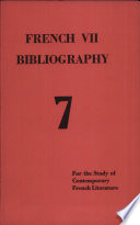 French VII Bibliography : ...