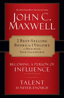 CU  Maxwell 2 in 1 Becoming a Person of Influence and Talent Is Never Enough