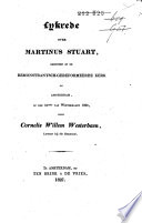 Lykrede over Martinus Stuart, gehouden in de Remonstrantsch-Gereformeerde Kerk te Amsterdam, op den 31sten van Wintermaand 1826