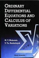 Ordinary Differential Equations and Calculus of Variations