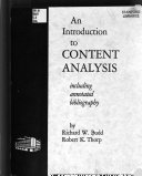 An Introduction To Content Analysis