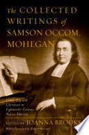 The Collected Writings of Samson Occom, Mohegan
