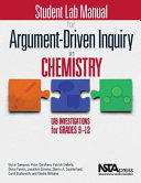 Student Lab Manual for Argument driven Inquiry in Chemistry
