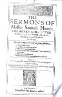 The Sermons of Master Samuell Hieron, Etc
