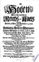 """""""Die"""" Hoheit des Teutschen Reichs-Adels Wordurch derselbe zu Chur- und Fürstlichen Dignitäten erhoben wird. Das ist: Vollständige Probe der Ahnen unverfälschter Adlicher Familien (etc.)"""