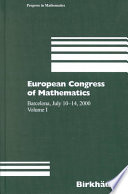 European Congress of Mathematics  Barcelona  July 10 14  2000