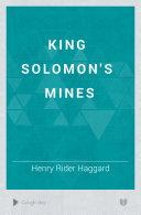King Solomon S Mines book