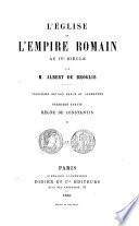 L'Église et l'Empire romain au IVe siècle