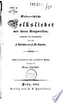 Oesterreichische Volkslieder mit ihren Singweisen