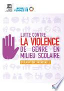 Lutte contre la violence de genre en milieu scolaire
