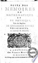 Suite des Memoires de Mathematique et de Physique