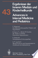 Advances In Internal Medicine And Pediatrics Ergebnisse Der Inneren Medizin Und Kinderheilkunde book