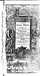 Book The holy Bible
