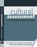 Cultural Assessment In Clinical Psychiatry book