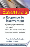 Essentials of Response to Intervention
