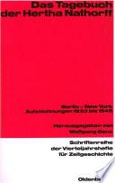 Das Tagebuch der Hertha Nathorff