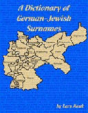 Book A Dictionary of German-Jewish Surnames