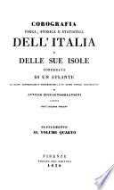 Corografia fisica, storica e statistica dell'Italia e delle sue isole