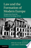 Law and the Formation of Modern Europe