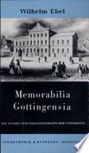 Memorabilia Gottingensia