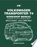 Vw Transporter T4 Workshop Manual Diesel 2000 2004