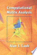 Computational Matrix Analysis book