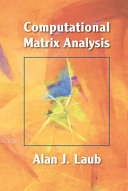 Computational Matrix Analysis